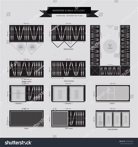 Wardrobe Symbol by Wardrobe And Walk In Closet Furniture Icon Top View For Interior Plan Stock Vector Illustration