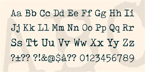 tox typewriter font 183 1001 fonts