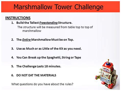 marshmallow challenge instructions stem agenda week 1 8 29 8 ppt download