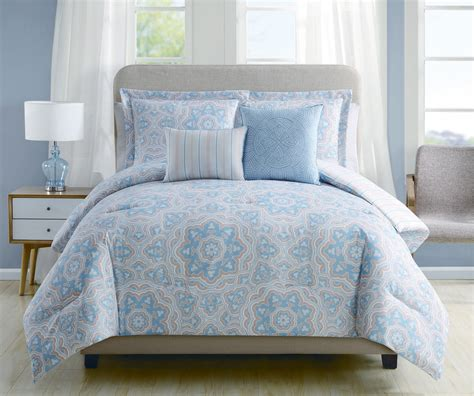 blue and coral bedding 5 piece christine blue coral reversible comforter set