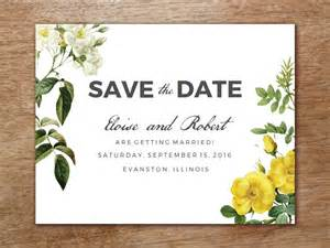save the date template botanical