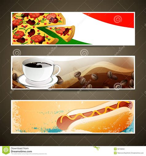 food banner template food and coffee templates stock photography image 30708262
