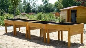 jardiniere bois en hauteur mzaol