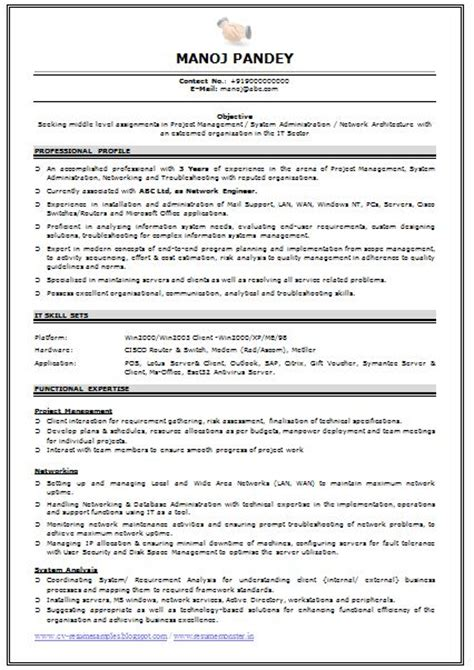 Resume Template For Experienced Professionals by Sle Professional Resume Format For Experienced 8 Best