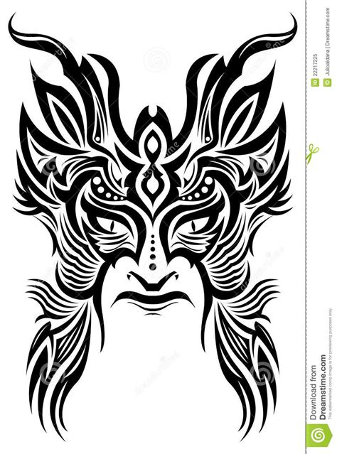 tattoo pictures download free ancient ceremony mask tribal tattoo vector royalty
