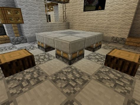 Minecraft Dining Table Minecraft Furniture Tables