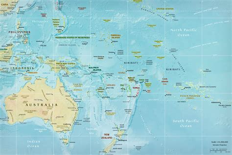 large map of australia large detailed relief map of australia and oceania
