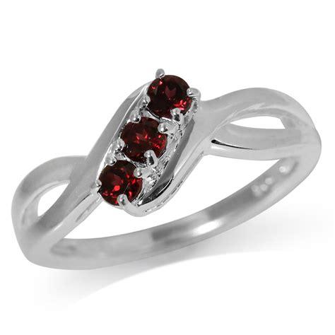 Garnet Sterling Silver Ring 3 garnet 925 sterling silver ring ebay