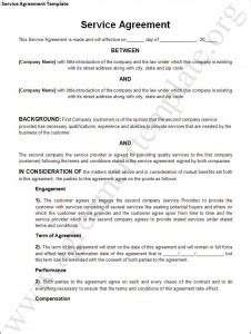Service Agreement Template Word Excel Templates Credentialing Contract Template