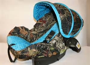 Camo Seat Covers For A Car Mossy Oak Infant Car Seat Cover With Blue Minky Custom