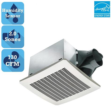humidity controlled exhaust fan delta breez signature series 130 cfm humidity sensing