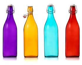 colored bottles italian glass bottles decorative blue orange