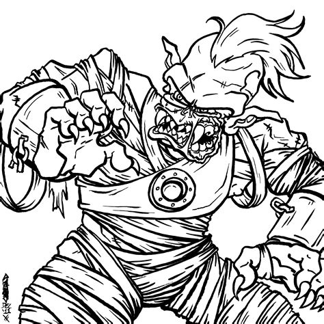 scary coloring pages of zombies creepy zombie coloring pages