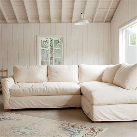The Simple Sectional Sofa Feather Seat And Back