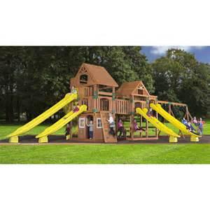 Backyard Discovery Retailers Backyard Discovery 54303com Safari Cedar Swing Set Atg