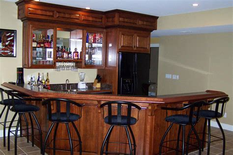 Unique Bar Cabinets Custom Bars M H Custom Cabinets