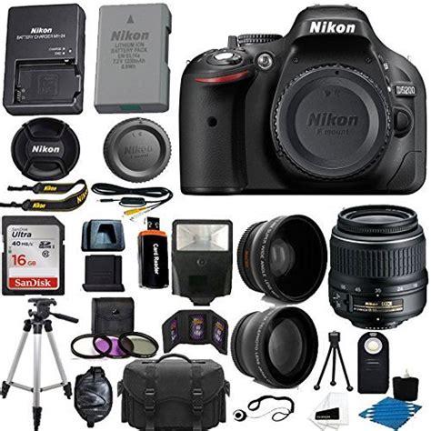nikon professional price nikon d5200 24 1 mp cmos digital slr black 18
