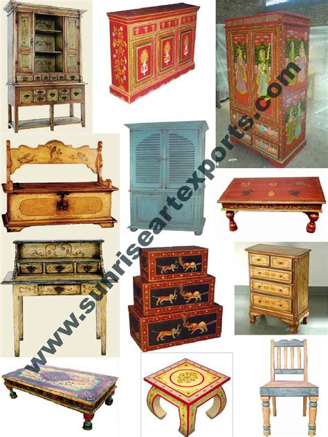 Handmade Indian Furniture - painted furniture antique reproduction furniture