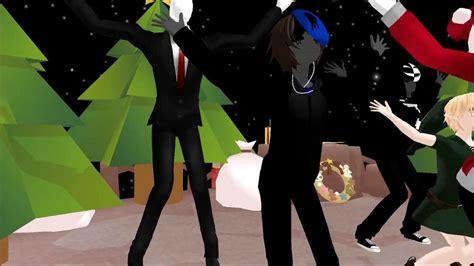 mmd jingle bells dance creepypasta  mas special dl links youtube