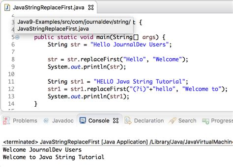 java string template java string replace journaldev