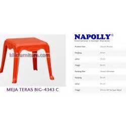 Meja Plastik Pendek big 908 napolly kursi tangan santai plastik harga promosi