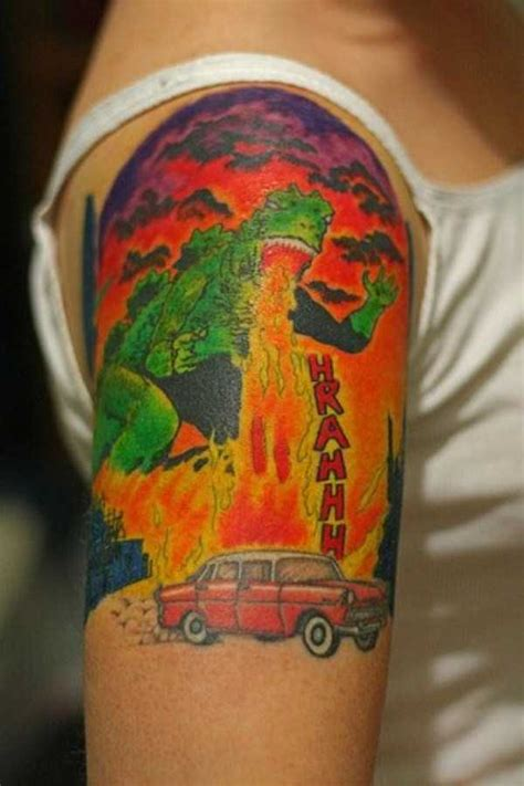 good godzilla tattoos   klykercom