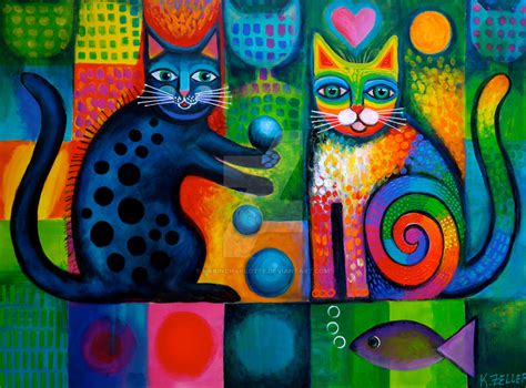 cat painting designs adults juggle puss and rainbow cat by karincharlotte on deviantart
