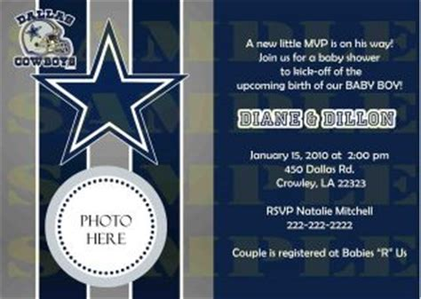 Dallas Cowboys Baby Shower Invitations Theruntime Com Dallas Cowboys Invitation Template