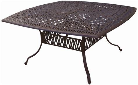 Cast Aluminum Patio Tables Patio Furniture Table Dining Cast Aluminum 64 Quot X64 Quot Square Lisse