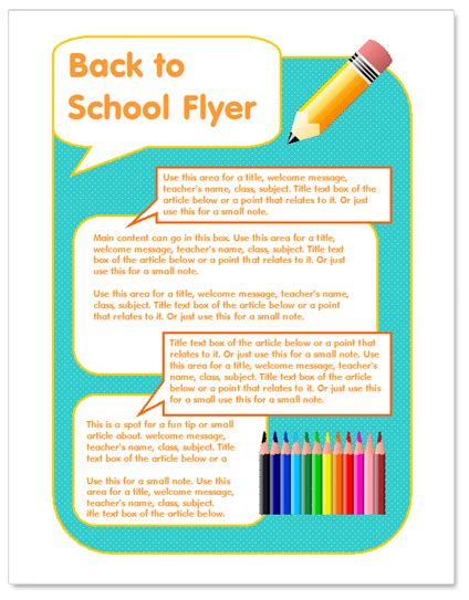 Free School Flyer Templates by Back To School Flyer Template Http Www Worddraw Back