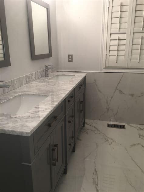 Bathroom Project: Bianco Carrara & XL Statuario   Marble