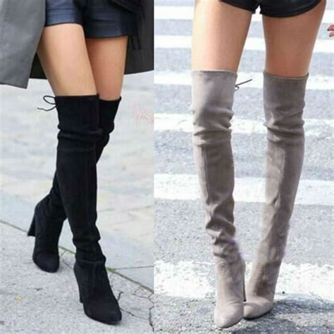 large size 2017 new fashion the knee high boots