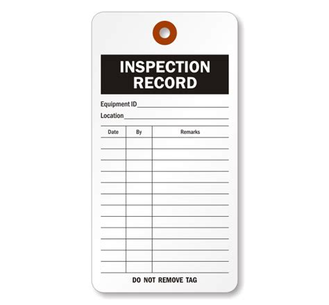 Extinguisher Inspection Tag Template extinguisher monthly inspection tags