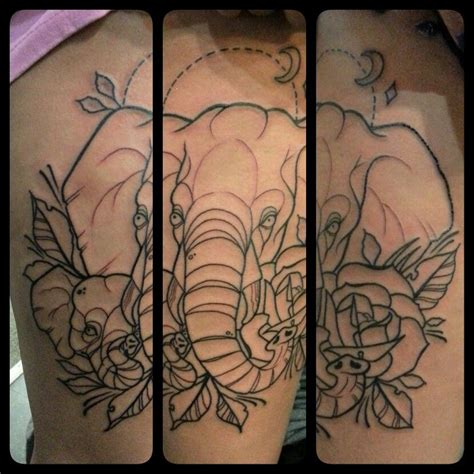 traditional elephant tattoo neotraditional elephant my