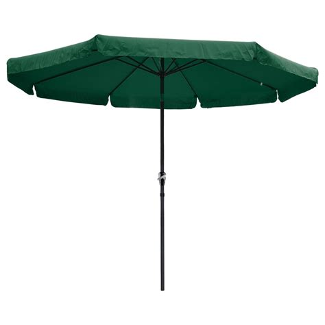 10 Patio Umbrella 10ft Aluminum Outdoor Patio Umbrella W Valance Crank Tilt Sunshade Market Garden Ebay
