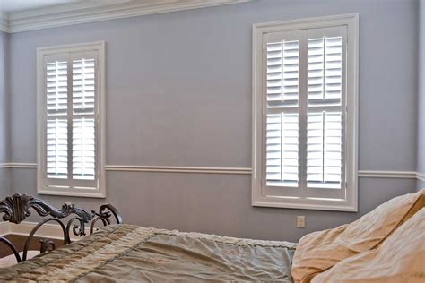 Simple Bedroom bedroom windows covered with 2 189 quot wood plantation shutters