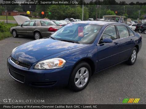 2006 blue chevy impala superior blue metallic 2006 chevrolet impala lt gray