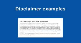 disclaimer templates articles on disclaimers termsfeed