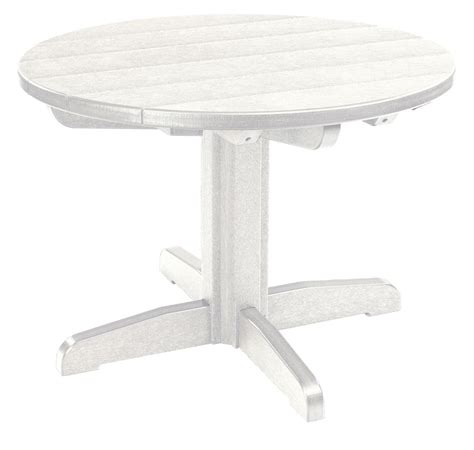 White Cocktail Table by Generations White 32 Quot Pedestal Cocktail Table Tbt04 02