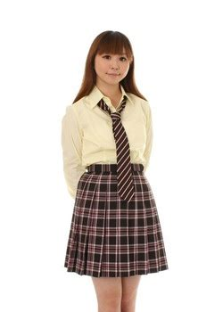 school check pleated skirt brown and pink check