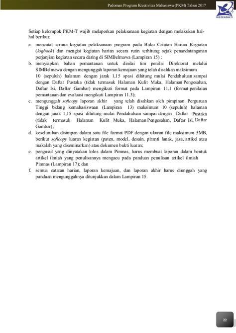format proposal pkm k 2017 pedoman pkm 2017