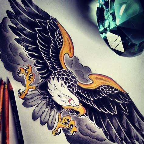 traditional eagle tattoos traditional american eagle tattoos www imgkid the