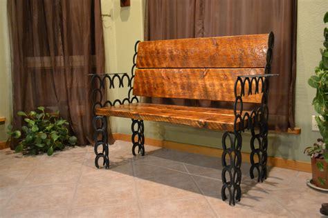 horseshoe bench bench horseshoe home decor western