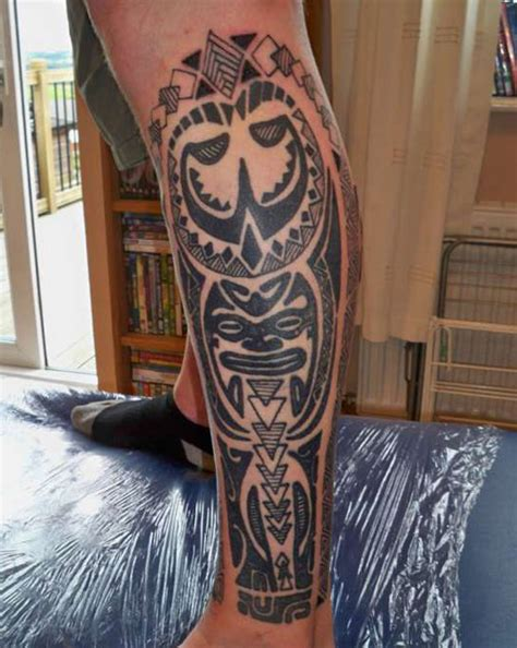 tribal tattoos for men on leg thigh tattoos for polynesian tattoos