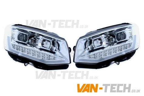led light bar headlight vw transporter t6 led drl light bar headlights tech
