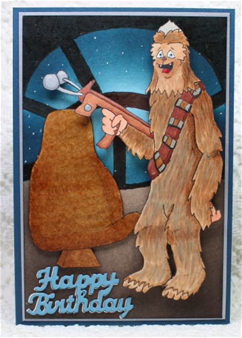 Chewbacca Birthday Card Chewbacca Sting With Guneaux Designs
