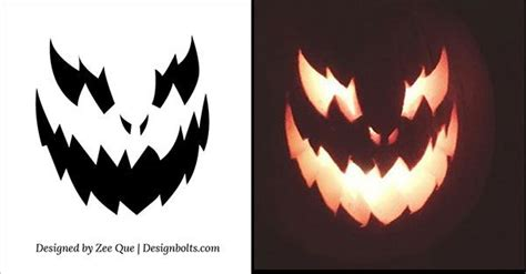 scary o lantern templates 10 free scary cool pumpkin carving stencils