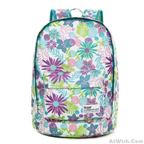 flower pattern backpacks fresh flower pattern waterproof backpack fashion