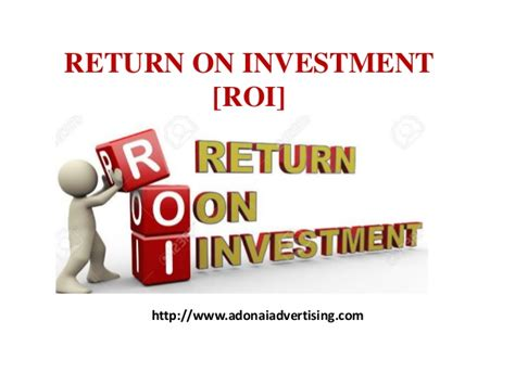 Eller Mba Return On Investment by Importance Of Return On Investment Roi In Adwords