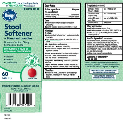 Side Effects Of Docusate Sodium Stool Softener by Dailymed Stool Softener Plus Stimulant Laxative Docusate Sodium And Sennosides Tablet